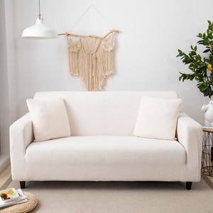 Image 5 - Aksamitna Sofa obejmuje do salonu solidna narożnik pokrywa elastyczna narzuta na sofę Home Decor Fundas Sofa Slipover Top Quality
