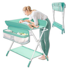 Diaper Table Baby Care Newborn Baby Diaper Changing Massage Touch Bath Multifunctional Foldable Baby Care Table Foldable