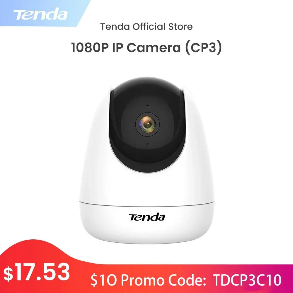 Tenda Cp3 360� Surveillance Camera 1080P Full-Hd Ip Cam Wifi 2Mp Baby Monitor babyfoon PTZ  ip ������ Free Cloud Storage