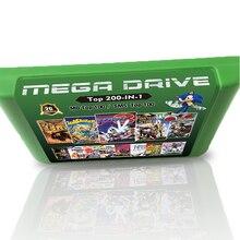 Nouvelle carte de jeu 2G chaude 200 en 1 pour Sega Megadrive Console de jeu vidéo 100 jeux haut MD + 100 jeux système haut maître