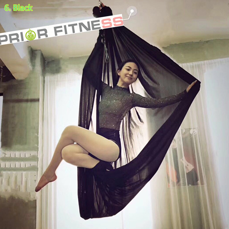 PRIOR FITNESS Toppkvalitet 7M Elastic Anti-gravity Multifunktionell Fly Aerial Yoga Hängmatta Swing Fabric antennleverantör inomhus