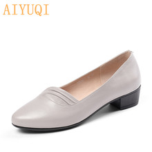 AIYUQI 2019 new formal women shoes genuine leather plus size 41 42 comfortable for flat