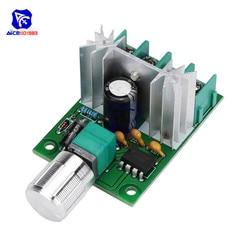 Diymore-Regulador de Motor de CC 6 -12V 6A PWM, controlador de velocidad de CC, interruptor de potenciómetro ajustable de alta potencia y velocidad Variable continua