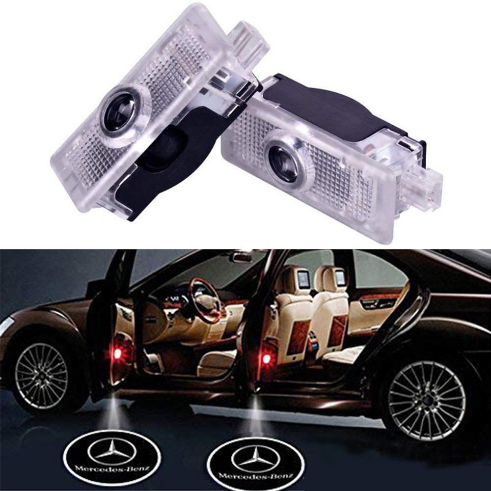 2/4Pcs Car Logo Door Welcome Light Car LED Projector Laser For Mercedes-Benz CLA CLA CLS A207 C207 Car Lamp Car Accessary