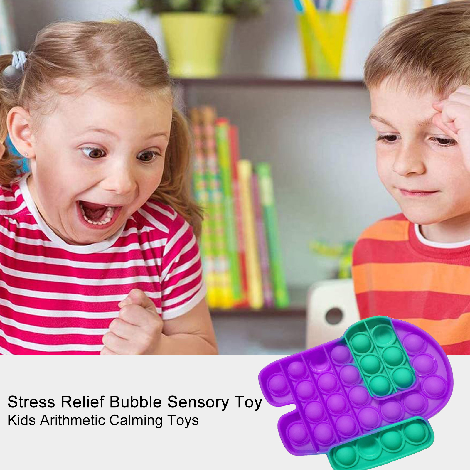 Toys Fidget-It-Stress Squish Pops Bubble-Sensory-Toy Reliver Needs Funny Adult Child img2