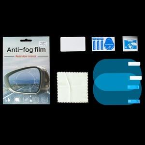 Image 5 - 2Pcs Waterproof Nano Stickers Car Rear View Mirror Protective Film Anti fog Window Clear Rainproof Rearview Mirror