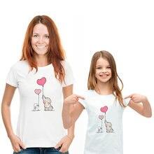 Новинка футболка с принтом слона кролика воздушного шара коротким