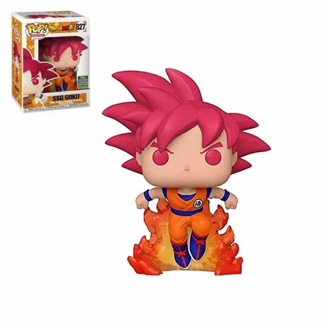 FUNKO POP Dragon Ball Super Saiyan Goku #827 Action Figure Toys 10cm Vinly Model Dolls for Kids Birthday Gifts 4