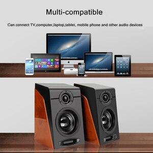Image 4 - Проводные USB колонки под дерево, бас, стерео сабвуфер, звуковая коробка, вход AUX, компьютерные колонки для настольных ПК телефонов