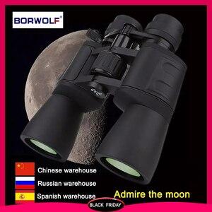 Borwolf 10-180X90 High Magnification HD Professional Zoom Powerful Binoculars Light Night Vision for Hunting Telescope Monocular