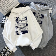 Kawaii hunter x hunter hoodies das mulheres dos homens camisola de manga curta killua zoldyck anime manga preta hoodies bluzy topos roupas