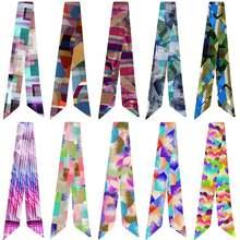 Современный Шелковый шарф с геометрическим принтом меняющий