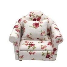 1:12 casa de muñecas muebles en miniatura sofá clásico sillón sofá Decoración Juguetes Para Niños regalo simulación sofá para casa de muñecas