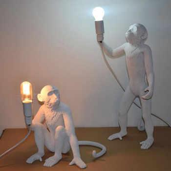 Moderne noir blanc or singe lampe pendentif lumières Art salon suspension lampe pour salle détude Led lumières lustre avec E27 Led ampoule