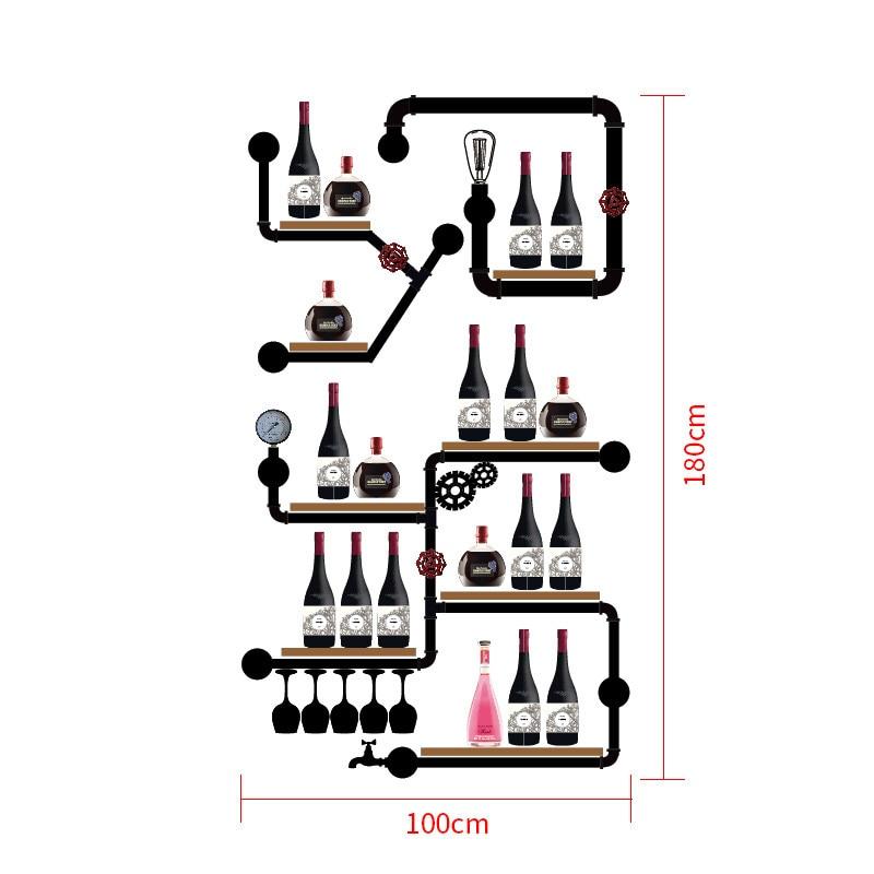 European-style Wine Rack Wine Bottle Display Stand Rack Organizer Mimimalist Glassware Organizer