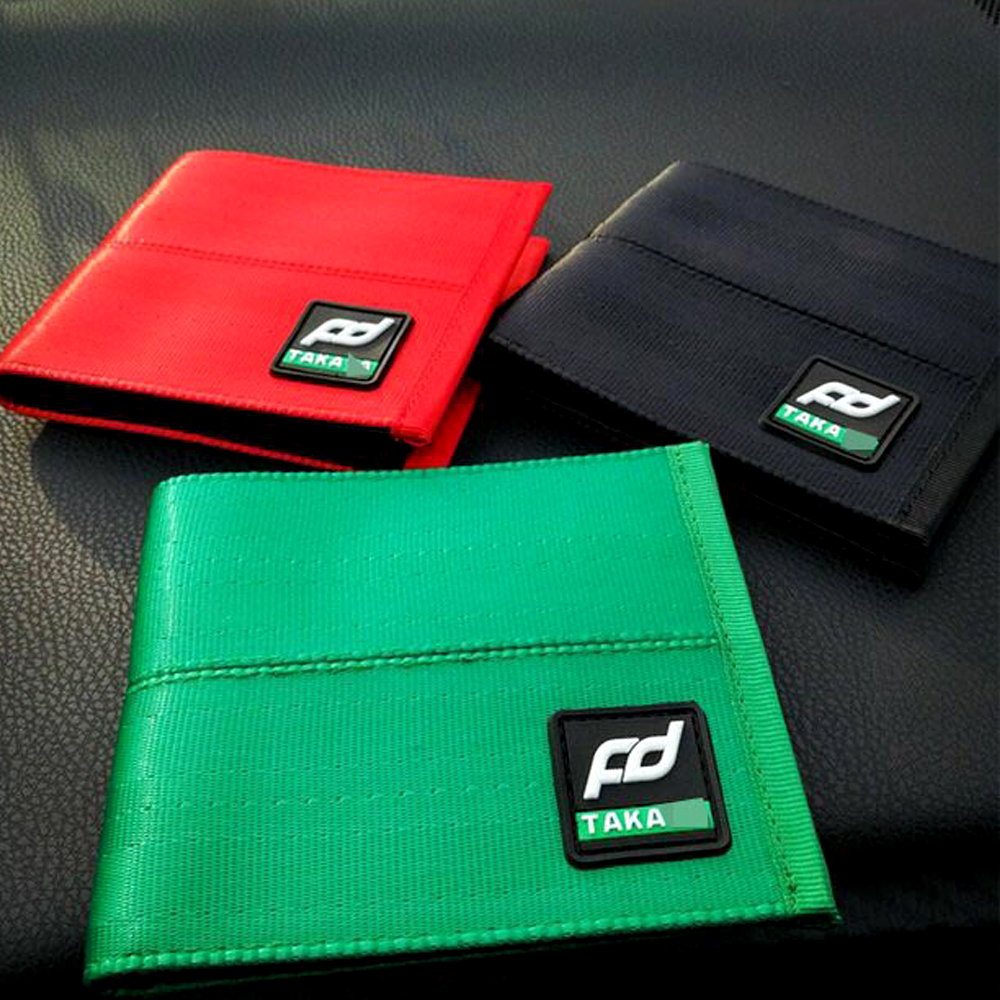 For JDM Car Auto Wallet Racing Style Fabric Leather Canvas Key Case Leisure Wallet Money Purse Clip Racing Car For TAKATA