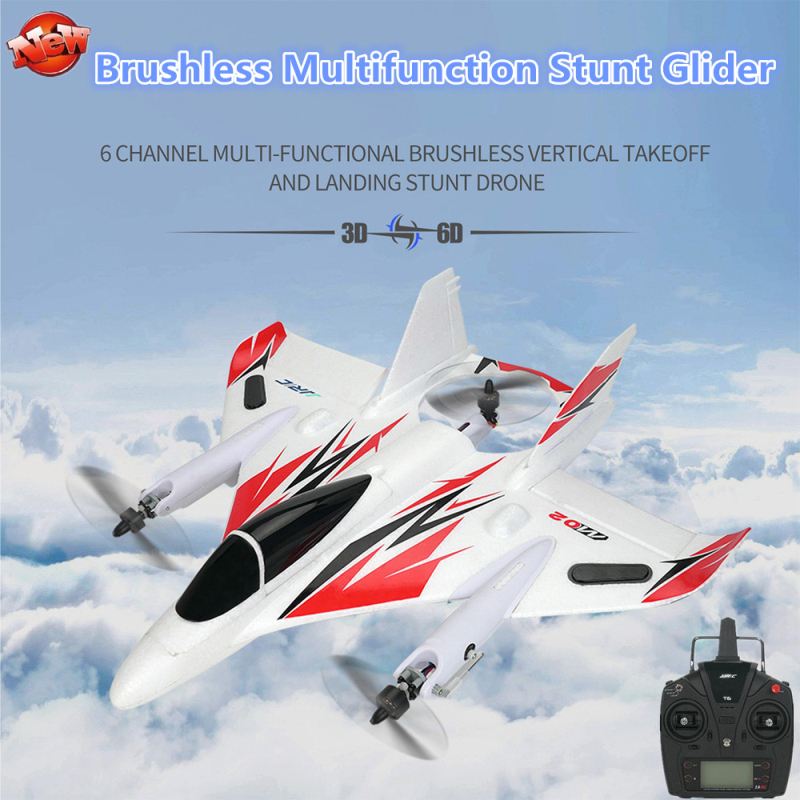 Professional Brushless Multifunction Fixed-wing RC Glider 2.4G 6CH 3D/6G V Mode Aerobatic EPO Remote Control RC Airplane RTF image