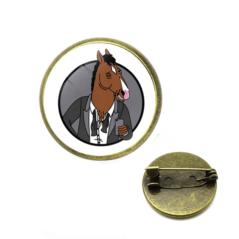 BoJa <font><b>Horse</b></font> <font><b>figure</b></font> art Pins and Brooches for Women Men Lapel pin backpack bags badge Gifts image