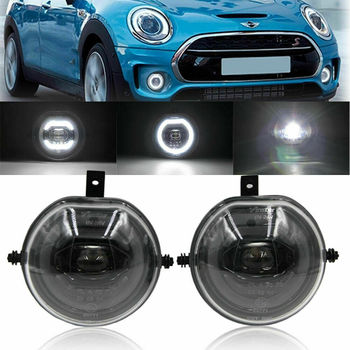 2pcs LED Fog Light Assy for Mini Cooper F54 F55 F56 F57 Halo Ring DRL Daytime Running Parking Lamp