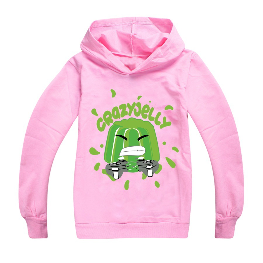 Baby Boys Thin Long Sleeve Kids Clothes Cartoon Jelly Youtube Print Hoodies Girl Costume Children Sweatshirts Top Tees 6