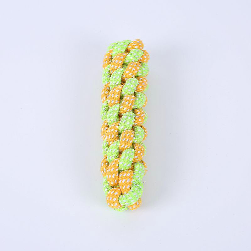 7 видов игрушек для домашних животных, собак, хлопковый мяч для щенков, жевательная игрушка, моляр для чистки зубов, зеленая веревка, прочная плетеная веревка, Забавный инструмент для тренировок на открытом воздухе-3