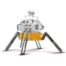 292 sztuk Metal Technic klocki do budowy zgromadzenie księżyc lądowania urządzenie DIY kreatywny budynek klocki do budowy s prezent zabawki dla chłopców dla dzieci tanie tanio CN (pochodzenie) 6 Age+ 869-4 8 ~ 13 Lat Dorośli Fantasy i sci-fi Micro building block Big building block( 1cm)