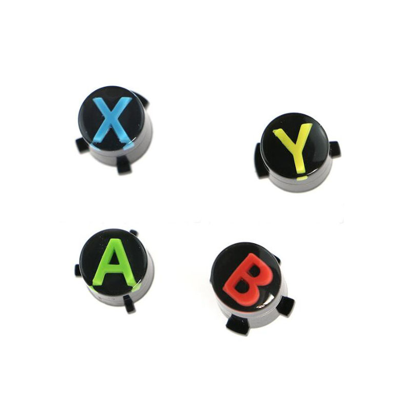 4pcs Repair Part Replacement Button Kit For Microsoft XBOX ONE Wireless Controller Xboxone Gamepad ABXY Logo Set Accessories