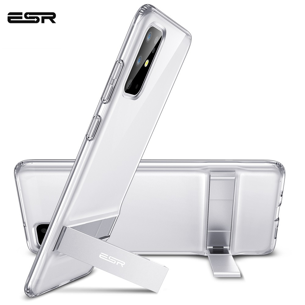 ESR Phone Case For Samsung Galaxy S20 Plus Ultra 2020 Metal Kickstand Vertical Soft TPU Bumper Stand Cover For S20 Ultra Case
