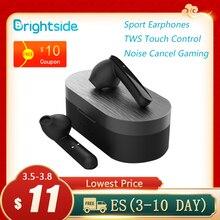 Brightside Bluetooth 헤드폰 무선 이어폰 bluetooth TWS 터치 컨트롤 스포츠 이어폰 Noise Cancel Gaming Headphones