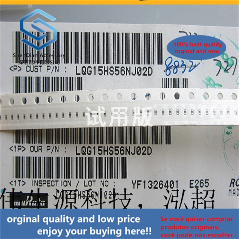 50pcs 100% Orginal New Best Quality LQG15HS56NJ02D 0402-56nH 200mA High Frequency Signal Multilayer Chip Inductor