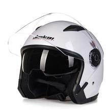Motorcycle High Strength Open Face Capacete Motorcycle Vintage Helmets with Dual
