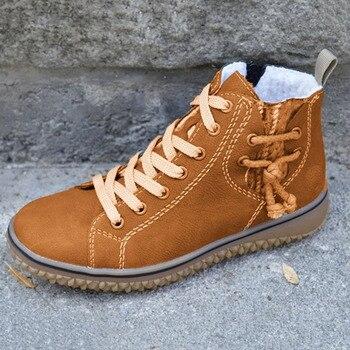2020 Dropship talla grande 43 mantener caliente al aire libre felpa trabajo De invierno bota tobillera De SEGURIDAD Zapatos Mujer espesar Zapatos De Mujer Botas