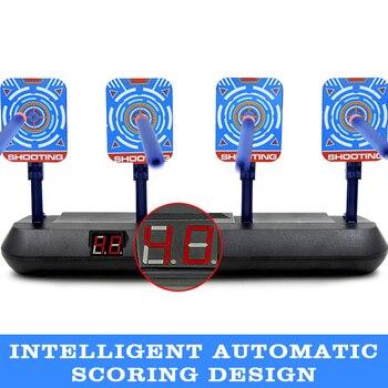 Mira electrónica para disparar, juguete deportivo con sonido luminoso para el hogar, marcador inteligente portátil, pantalla LCD de reinicio automático antideslizante