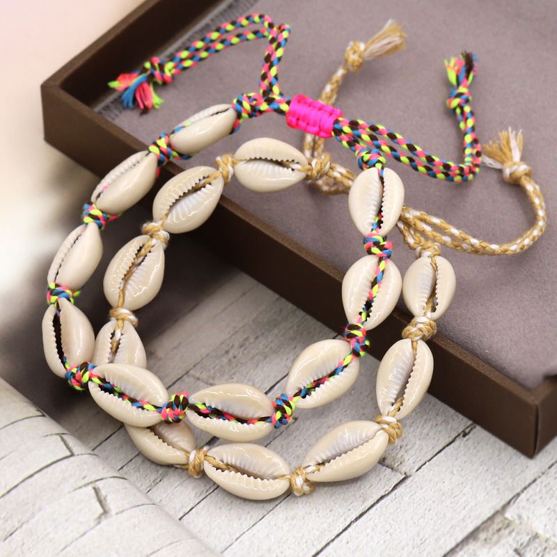 VONNOR Boho Jewelry Natural Shell Ankle Bracelet for Women Beach Barefoot Sandals Accessories Female Anklet for Leg Foot Strap