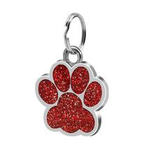 Fashion Footprints Pet Pendant Decor Lovely Pet Jewelry Popular Glitter Footprint Identity Card Dog Tag Pet Accessories(China)