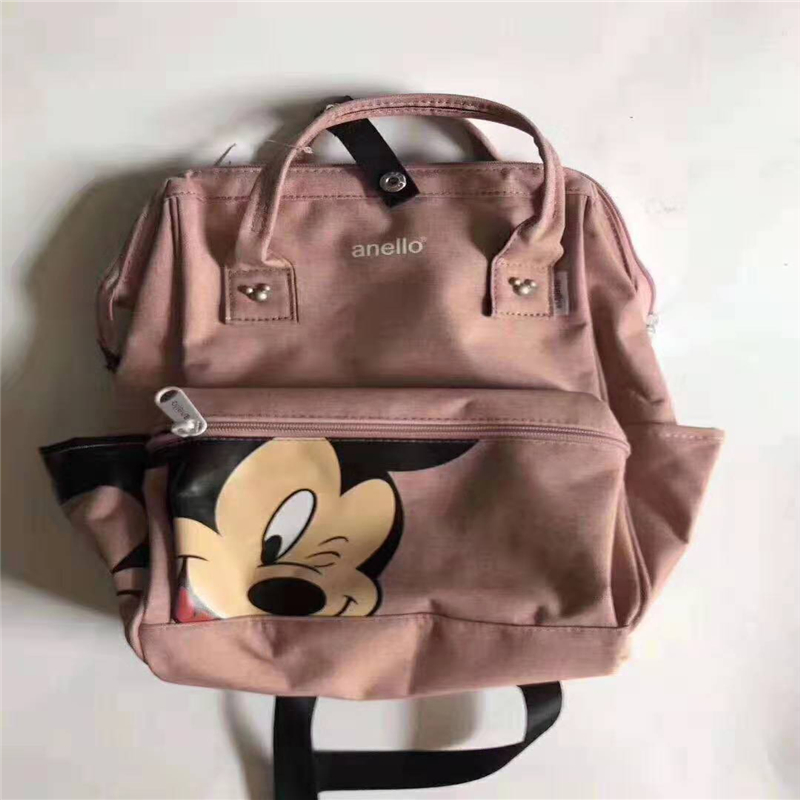 Minnie Mickey Mouse Kids Handbag  Primary School Student Boys And Girls Backpack Bag For School Handbag Outdoor Backpack