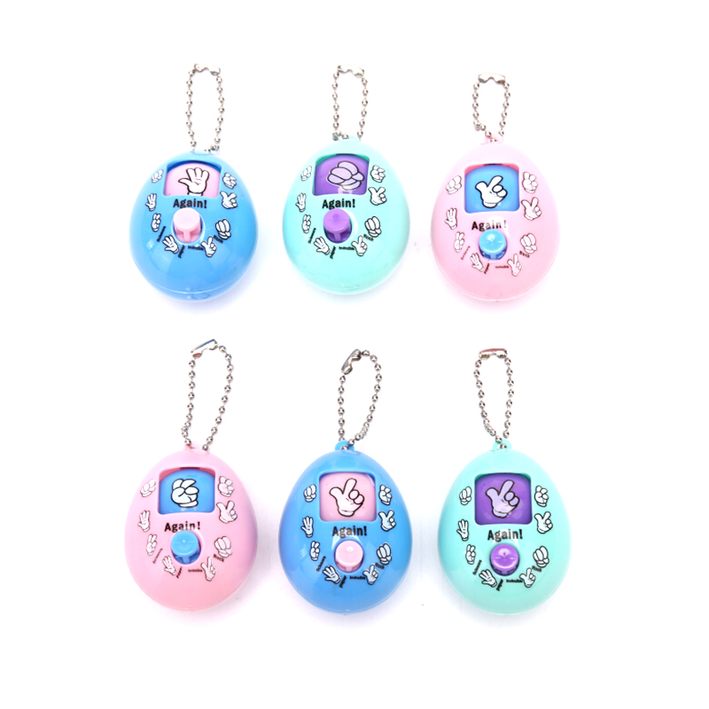 2019 New Mixed Family Games Keychain Rock Paper Scissors Play Toy Macaron Colors Round Egg Keychain Party Interactive Toy