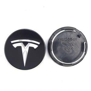 Image 3 - Dla TESLA MODEL X S 3 car styling XWC1385 01 akcesoria samochodowe 56MM 58MM odznaka osłona środkowa ozdobna pokrywka