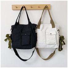 цены Canvas Handbags Women Shopping Bags Female Over Shoulder Bag High Quality Shopping Bag Ladies Messenger Bags For Women 2019