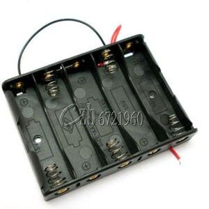 Image 1 - 5x AA Batterie Boîte Porte Étui Avec Fils Côte à Côte Batterie Boîte de Connexion De Soudure Pour 5 pièces Piles AA