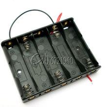 5x AA Batterij Box Case Houder Met Draad Leads Side By Side Accubak Aansluiten Soldeer Voor 5pcs AA batterijen