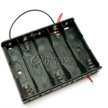 5x AA Battery Box Case Holder With Wire Leads Side By Side Battery Box Connecting Solder For 5pcs AA Batteries