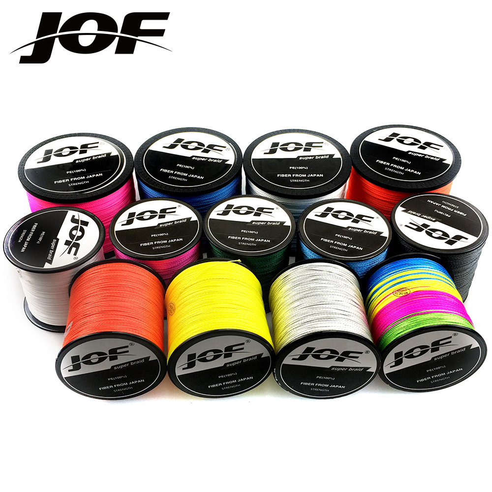 NEWEST JOF PE Multicolor Braid Fishing Line 8 Strands 4 Strands 300M Sea Fishing Weave Super Strong Threads 8/4