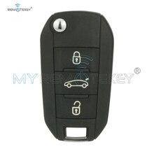 цена на Remtekey OEM flip key remote 3 button 433Mhz PCF7941 ID46 chip for Peugeot 508 2014 2015