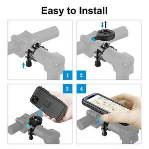 Image 3 - אופני טלפון מחזיק אופנוע כידון ערש, אופניים טלפון הר עבור iPhone 11 פרו מקסימום 7/8 SE2020 עמיד למים מקרה GPS תמיכה