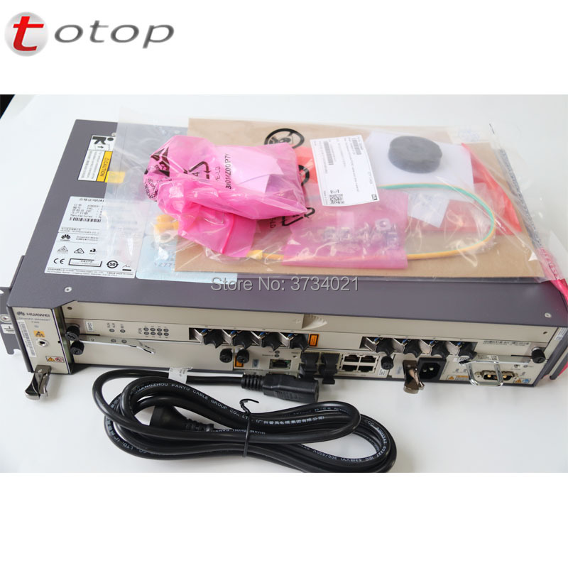 Ship By DHL 100% Original Huawei  MA5608T  OLT Device With 1*10GE MCUD1 +1*AC MPWD +1*GPBD/GPFD C+ Service Board