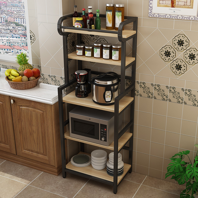 Kitchen Racks Floor-mounted Multi-layer Storage Rack Microwave Oven Dish Cabinet Storage Rack Home Artifact