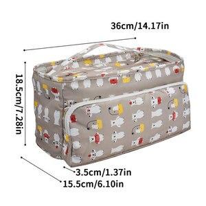 Image 2 - Looen 11 スタイル糸ニットdiyの針芸術クラフトホルダートートオーガナイザー収納かぎ針バッグ空の正方形の収納バッグ