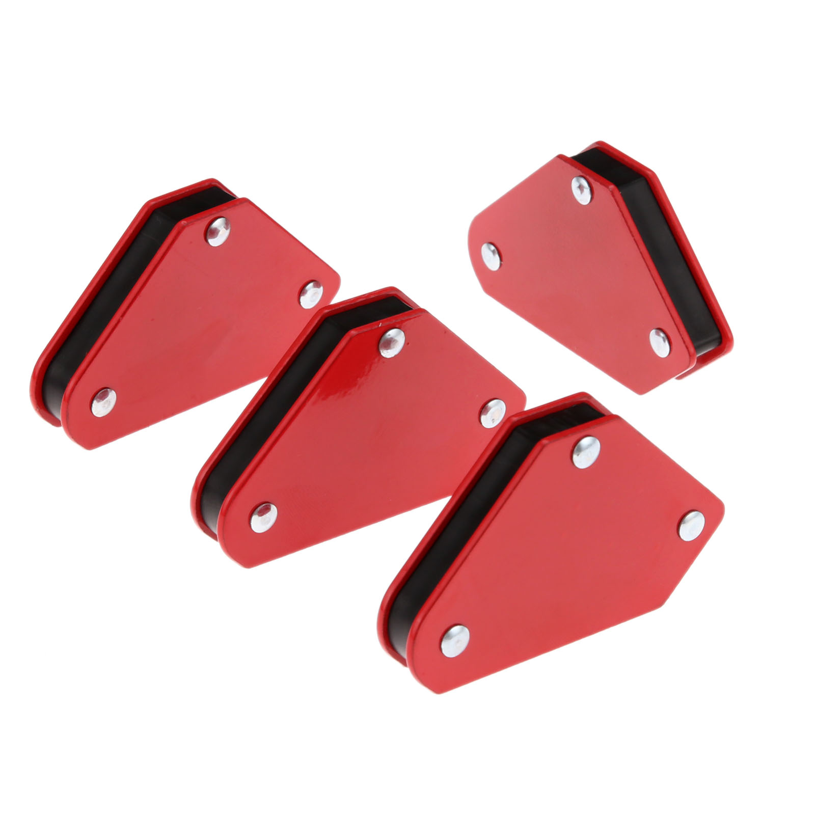 DRELD 4pcs Magnetic Welding Positioner Magnet Welding Holder Arrow Clamp 45/90/135 Degrees Clamp For Electric Welding Iron Tools