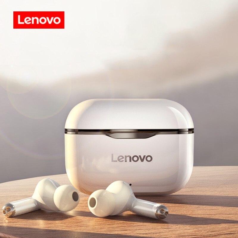 Новые оригинальные беспроводные наушники Lenovo LP1 TWS Bluetooth 5,0 с двойным стерео шумоподавлением и сенсорным управлением 300 мАч